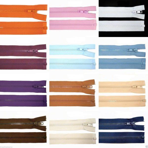 1006 Reissverschluss 50cm 5mm Produktfarben Uebersicht