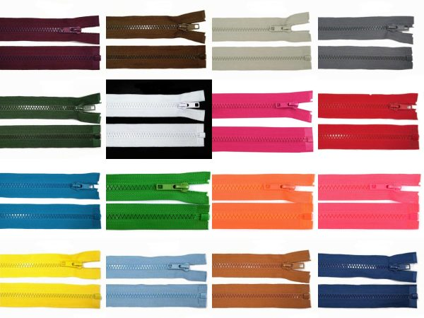 1012 Reissverschluss 40cm 5mm Uebersicht Farbvarianten