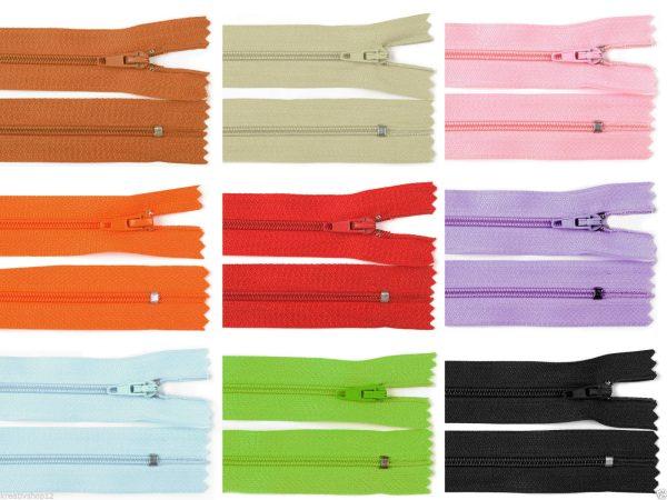 1034 Reissverschluss 60cm 3mm Uebersicht Farbvarianten