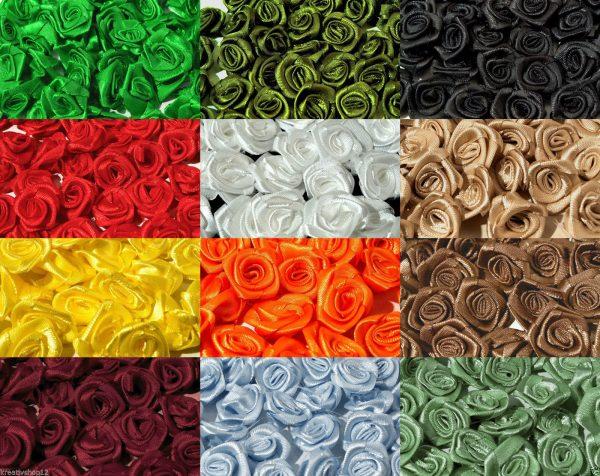 1046 Satinroesschen 12 15mm Uebersicht Farben