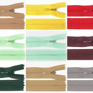 1047 Reissverschluss Verdeckt 40cm 3mm Uebersicht Farbvarianten