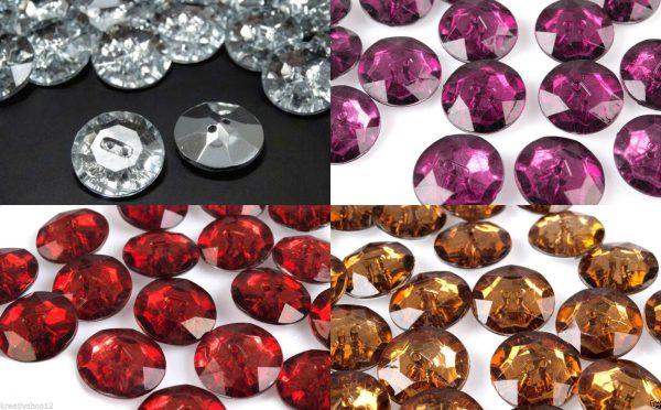 1112 Knoepfe 25mm Krystalloptik Uebersicht Alle Farben