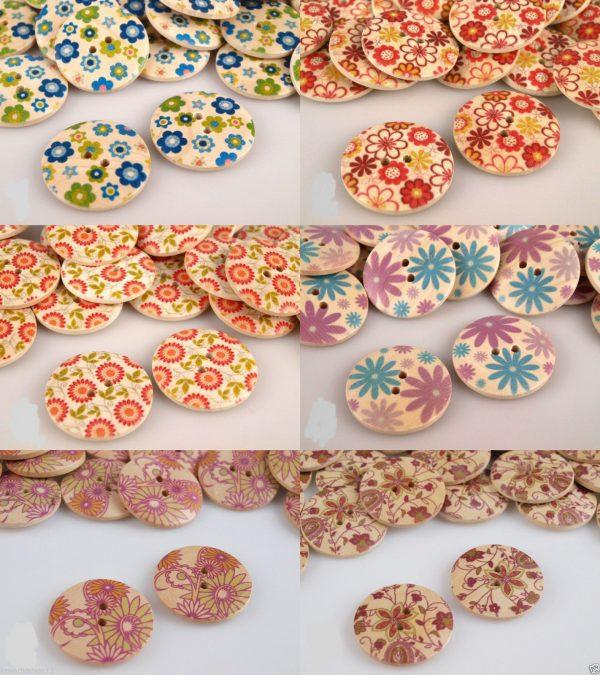 1115 Knoepfe Holz Blumenmotive Ubersicht Alle Varianten