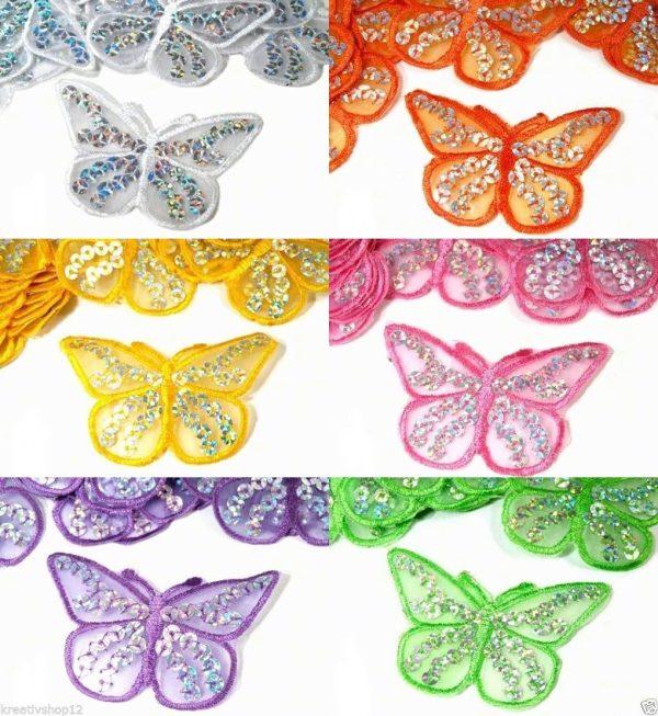 1205 Aufbuegler Schmetterling 4cm5x7cm Uebersicht Farbvarianten