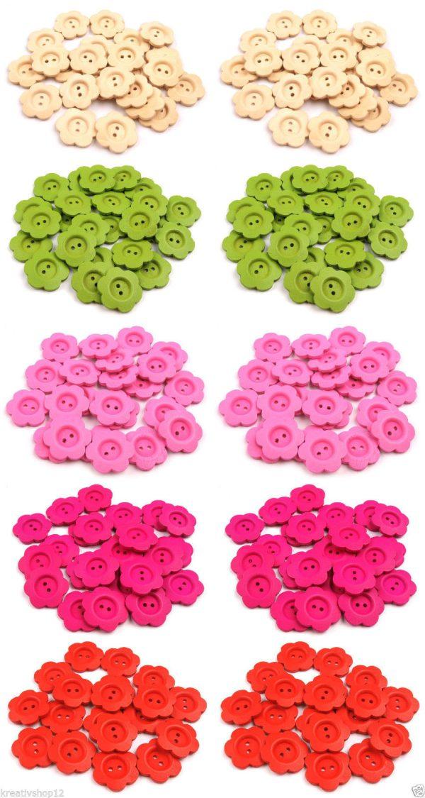 Holz Knoepfe Blume Uebersicht Alle Farben