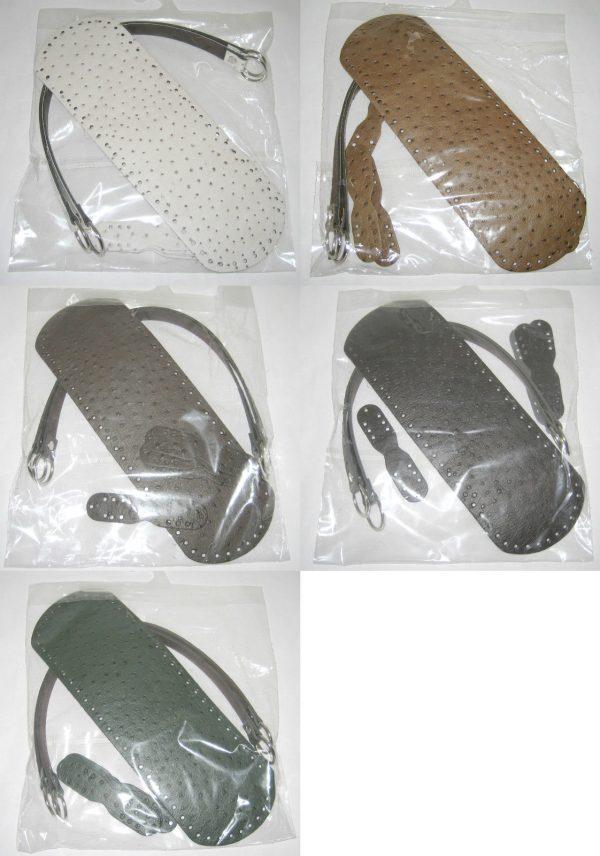 Taschengriffe Taschenboden Krokodiloptik Uebersicht