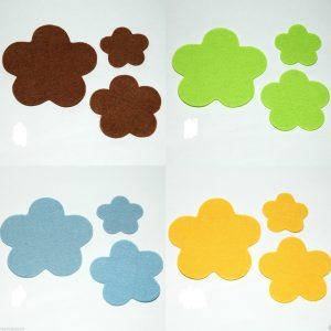 1148 Filzblumen Streudeko Uebersicht 4 Farben