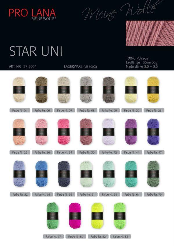1328 PRO LANA Star Uni Uebersicht Farbcodes