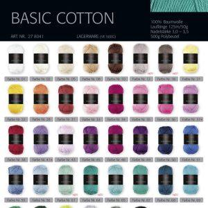 1329 PRO LANA Basic Cotton Uebersicht Farben