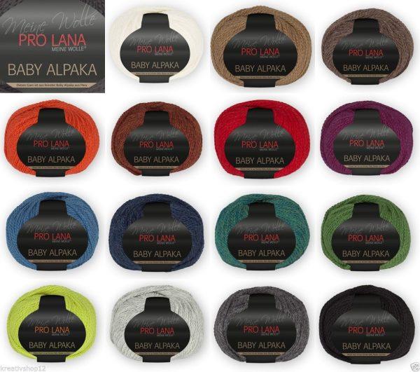 1366 Pro Lana Baby Alpaka Uebersicht Farben