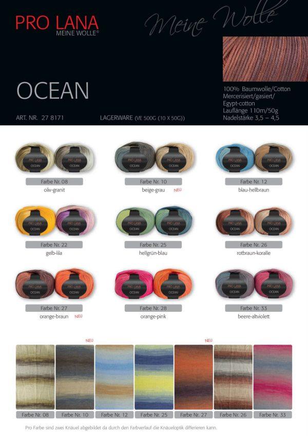 1394 Pro Lana Ocean Uebersicht Farben Plakat 1