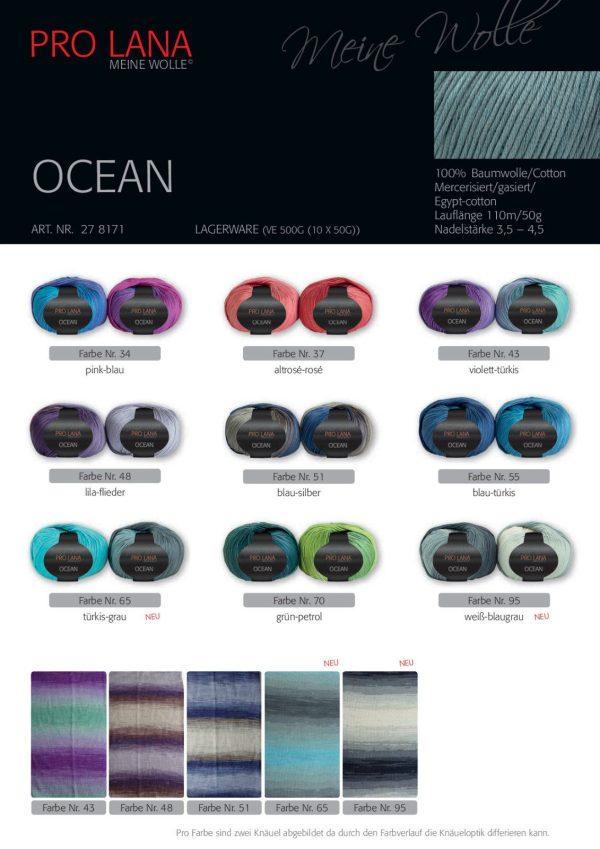 1394 Pro Lana Ocean Uebersicht Farben Plakat 2
