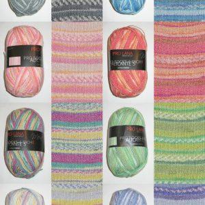 1400 Pro Lana Pro Socks ALICANTE 5 Uebersicht Farben Variantenmuster