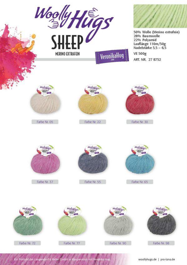 1430 Wolly Hugs Sheep Uebersicht Farben Varianten