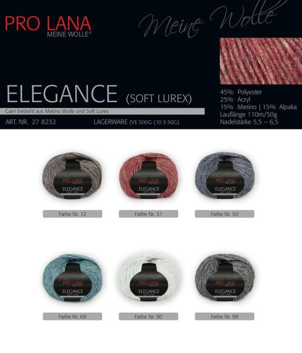 1446 Pro Lana Elegance Lurex Uebersicht Farben
