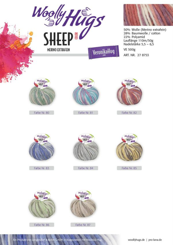 1447 Wolly Hugs Sheep Color Uebersicht Farben