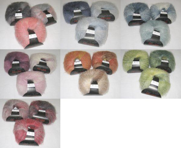 1477 Pro Lana KID SETA Color Uebersicht Wollfarben