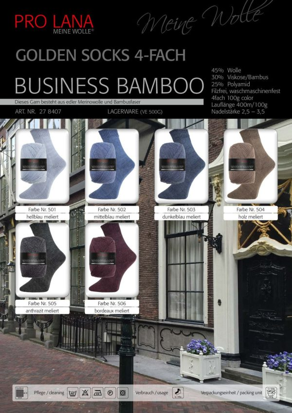 1495 Pro Lana BUSINESS BAMBOO Uebersicht Wollfarben
