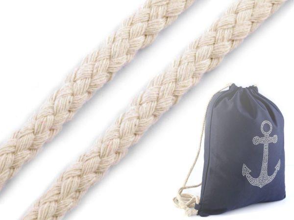 1603 Baumwollkordel Baumwolldocht 3m 10mm Farbe Creme Beispiel